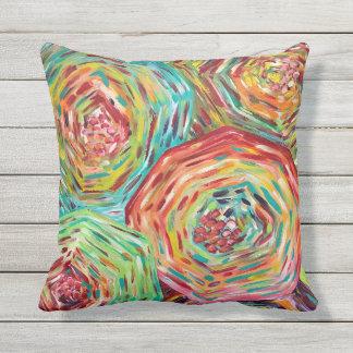Floral outdoor pillow/ bright coloured pillows