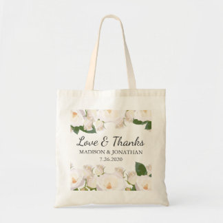 Floral Outdoor Wedding Love & Thanks Hotel Welcome Tote Bag