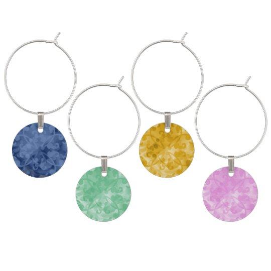 Floral Overlay Charm Wine Glass Charm