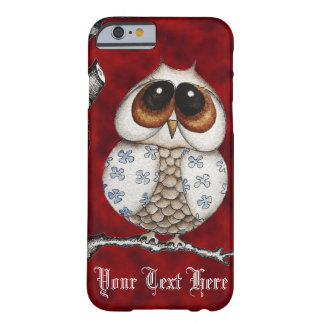 Floral Owl Red iPhone 6 case