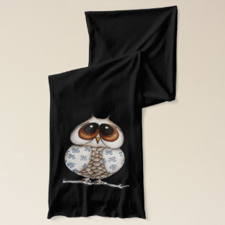Floral Owl Scarf