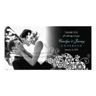 Floral Paisley Boho Wedding Thank You PhotoCard Card