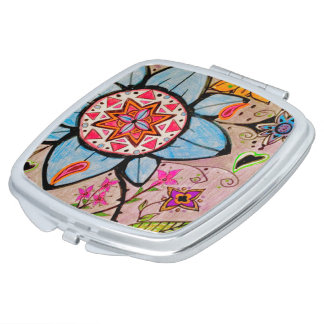 FLORAL & PAISLEY COMPACT MIRROR