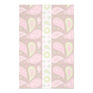 Floral Paisley Panels Custom Stationery