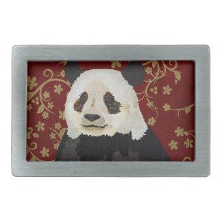 Floral Panda Belt Buckle
