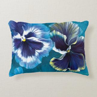 Floral pansy fine art pillow
