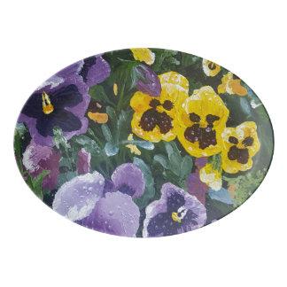 Floral Pansy Serving Platter