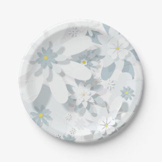 Floral Paper Plate