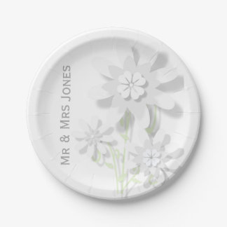 Floral Paper Plate (Customisable)