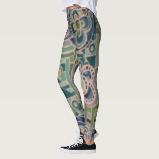 Floral Pastels Mulitcolored Leggings