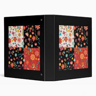 FLORAL PATCHWORK DESIGN FOR BINDER