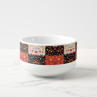FLORAL PATCHWORK DESIGN FOR SOUP MUG