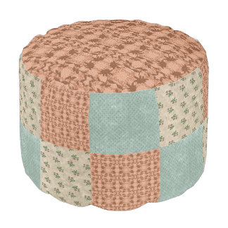 Floral Patchwork Pattern  Ottoman