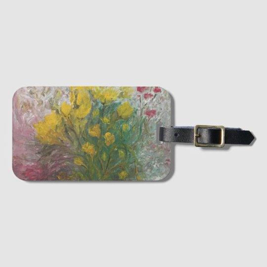 Floral Path Luggage Tag