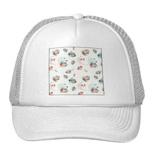floral pattern 1 hats
