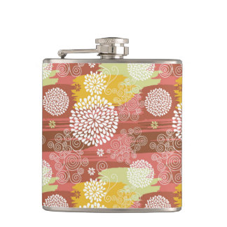 Floral pattern 2 hip flask