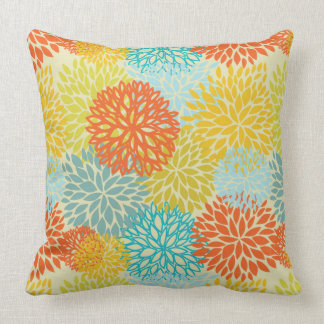 Floral pattern 3 throw pillow
