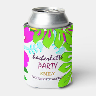 Floral Pattern Bacherlotte Party Can Cooler