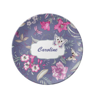 Floral Pattern & Butterfly Mother's Day Gift Plate