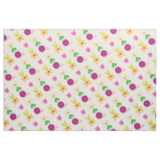 FLORAL PATTERN COLORED BEAUTIFUL MODERN FABRIC