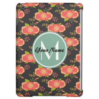 Floral Pattern Custom Monogram Case For iPad Air