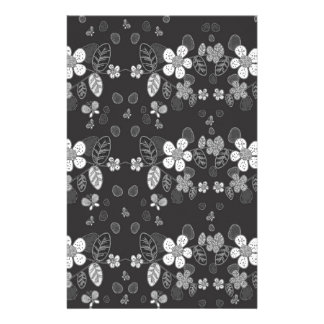 Floral pattern customized stationery