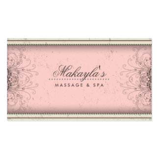 Floral Pattern Damask Elegant Modern Classy Retro Business Card Templates