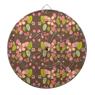 Floral pattern dart boards