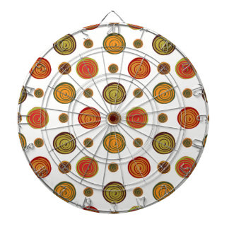 Floral pattern dartboard