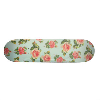 Floral Pattern Design Skate Board