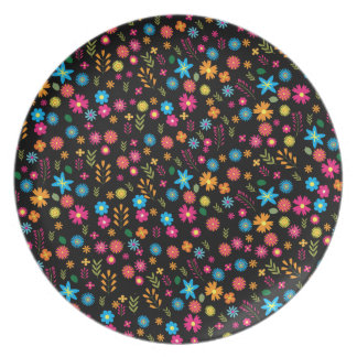 Floral pattern dinner plates
