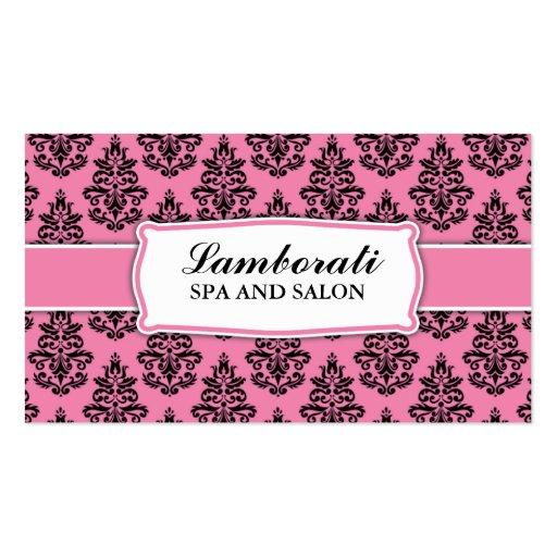 Floral Pattern Elegant Hairdresser Stylist Salon Business Card Templates