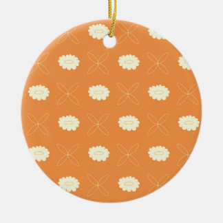Floral pattern III Round Ceramic Ornament