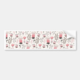 Floral pattern in Pink and Magenta Bumper Sticker
