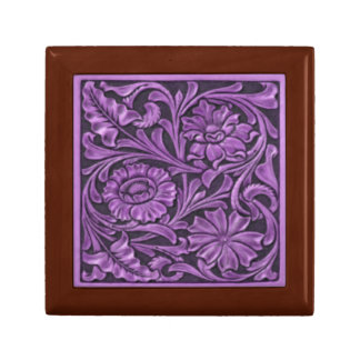 Floral Pattern in Purple Gift Box