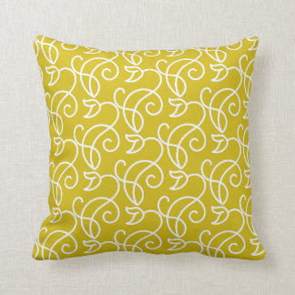 Floral Pattern in Summer Color Throw Pillow