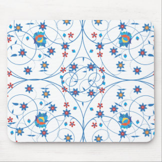 Floral pattern in turkish style mouse pad