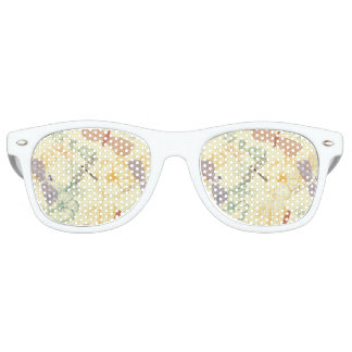Floral pattern in vintage style dragonfly foliage party sunglasses