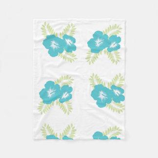 floral pattern light blue blanket