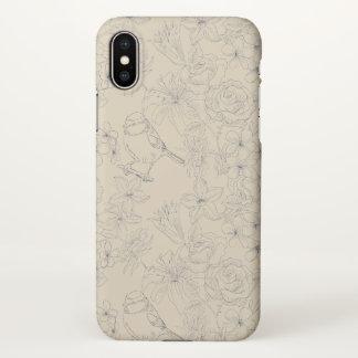 floral pattern modern fun cute iPhone X case