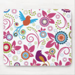 Floral Pattern Mouse Pads