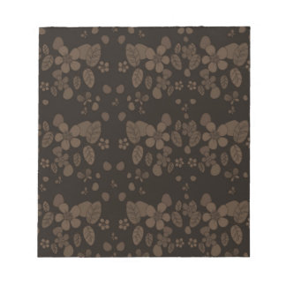 Floral pattern notepad