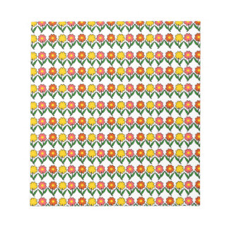Floral pattern notepads