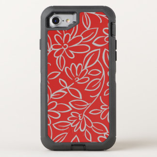 Floral pattern overlay - you choose color OtterBox defender iPhone 8/7 case