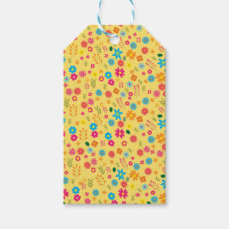Floral pattern pack of gift tags