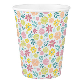 Floral Pattern Paper Cup