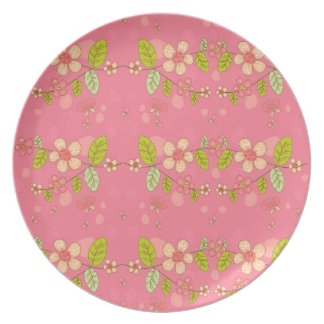 Floral pattern plate
