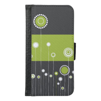 Floral Pattern Samsung Galaxy S6 Wallet Case