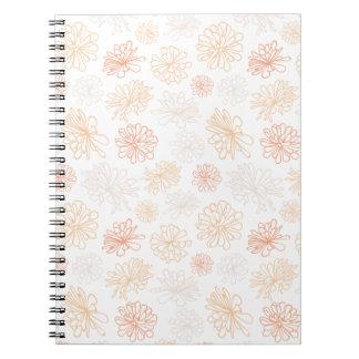 Floral Pattern Succulent Garden Botanical Print Notebook