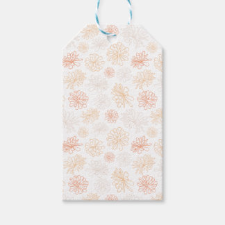Floral Pattern Succulent Garden Botanical Print Pack Of Gift Tags